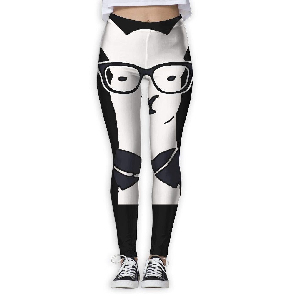 DDCYOGA Alpaca Wear Glasses Womens Stretch Boot Leg Yoga Pants Sport Workout Running Leggings for Women