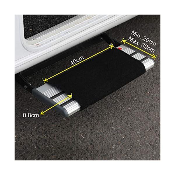 51aWe4RDZ8L FAIRMO Wohnmobil Trittstufen Fußmatte - Premium Teppich - Zubehör individuell passend - Clean Step Wohnwagen - Camping…
