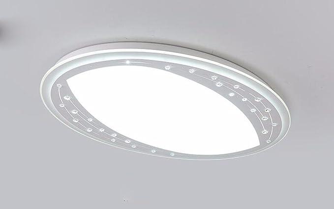 FGSGZ Luz De Techo Led Simple La Luz Del Cristal Lámparas ...