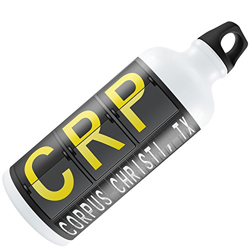 Water Bottle CRP Airport Code for Corpus Christi, TX 20oz / 600ML