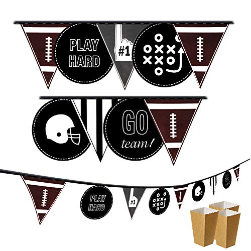 Football Party Banner - 9 Flags Pennant Bunting