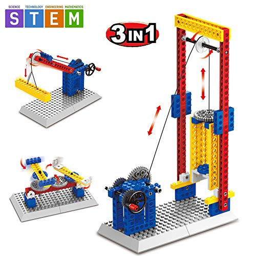 SEIGNEER 3 in 1 Mechanical Engineering Lift Building Set Education Toy 68 Pieces