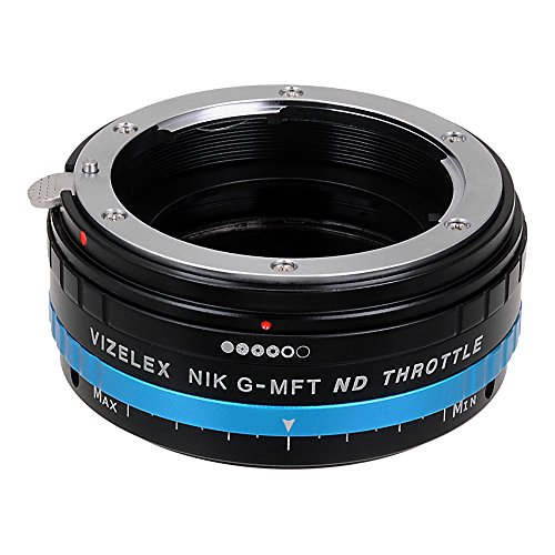 Vizelex ND Throttle Lens Adapter Compatible with Nikon F-Mount G-Type Lenses to Micro Four Thirds Mount Cameras