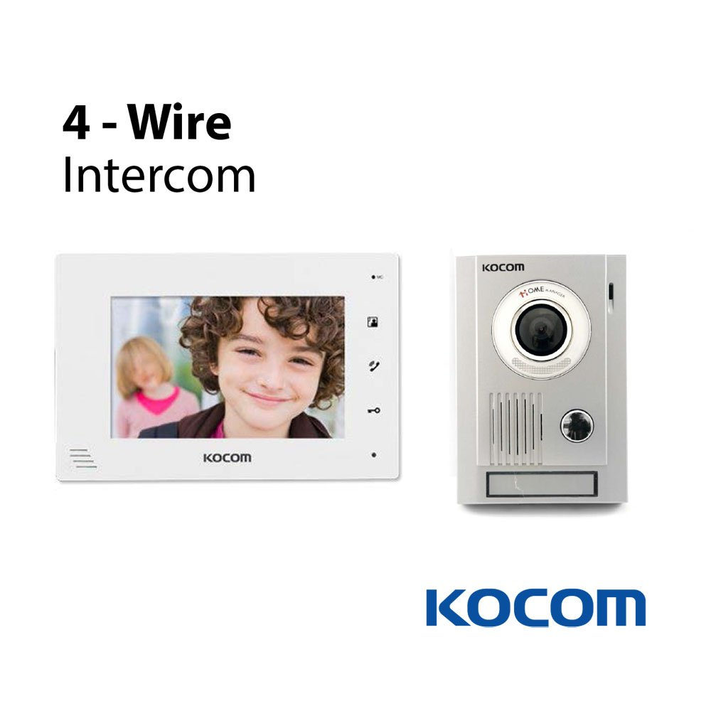 Amazon.com: Kocom Kit: KC-MC30 Video Door Intercom Camera & KCV-D374 ...
