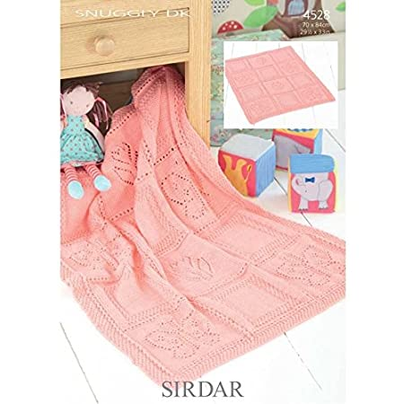 Sirdar Baby Blanket Knitting Pattern 4528 Dk By Sirdar Amazon