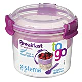 Sistema To Go Collection Breakfast Bowl Food Storage Container, 17.9 oz./0.5 L, Color Received May Vary