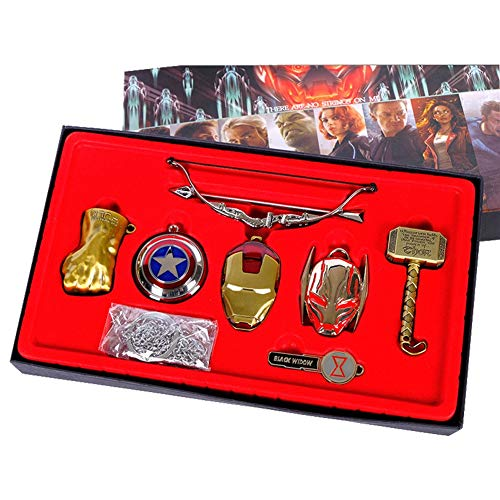 PAPRING Set Keychain 2-3.8 inch Hot Zinc Action Figure Small Figures Toys Mini Model Keyring Pendant Gifts Christmas Halloween Birthday Gift Movie Collectible for Kids -