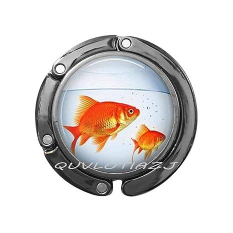 Amazon.com: Gancho para bolso de pescado dorado, llavero ...