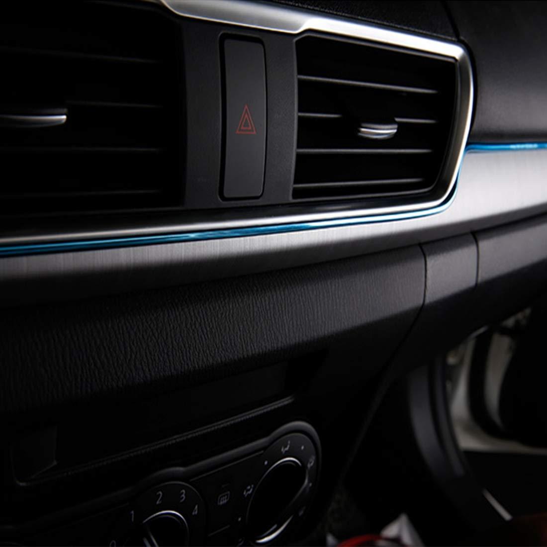 Orange QGT 5m Flexible Trim For DIY Automobile Car Interior Moulding Trim Decorative Line Strip with Film Scraper Color : Blue