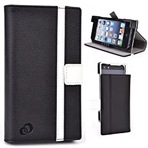 Apple iPod Touch 5 5th Generation Universal PU Leather Stand Case - Two Tone
