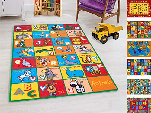 HR'S 8FTX11FT KIDS EDUCATIONAL/PLAYTIME RUG 7FT.4INX10FT.4IN PLEASE CHCK ALL PICTURES(ABC ANIMALS)
