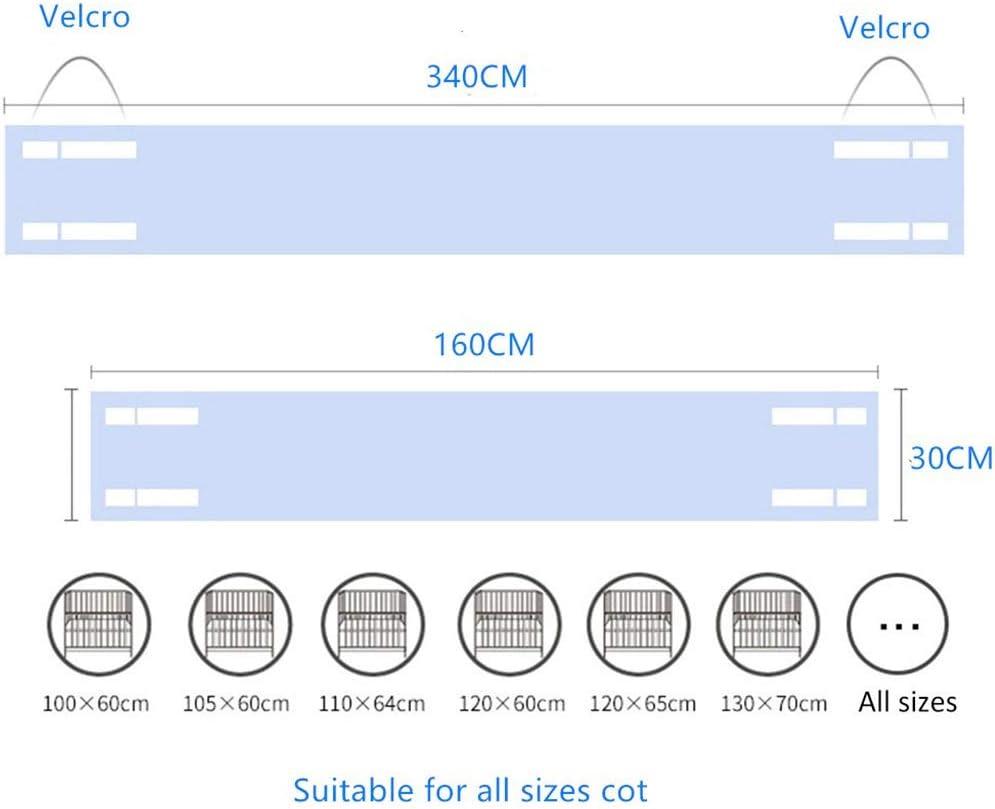 Tour de lit quatre c/ôt/és pour berceau avec circulation de lair Doublure en maille 340 * 30CM+160 * 30CM