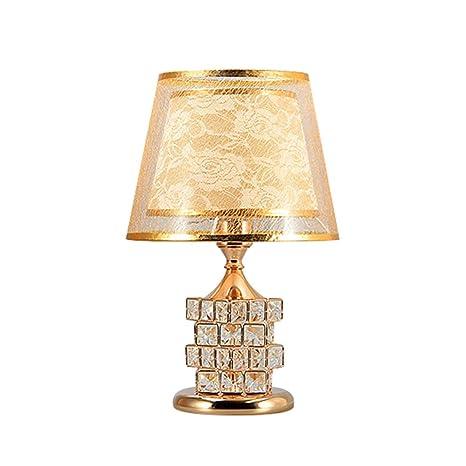 Amazon.com: CCSUN Crystal E26 Lámpara de mesa, lámpara de ...