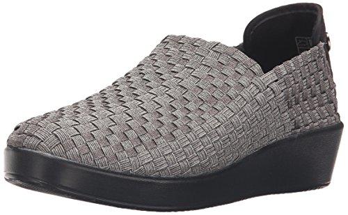 Bernie Mev Mujeres Smooth Cha Cha Slip-on Loafer Gunmetal