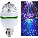 Bombilla LED de 3 W RGB con cambio de color, bombilla giratoria mágica de colores
