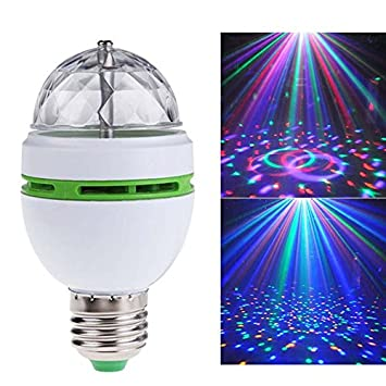 Amazon.com: RGB LED Stage Light Bulb, E27 3W Magic Rotating Bulb Colorful Pattern Lamp 85-260V Color Colorful LED Light Decoration For KTV/Ball Room/Bar ...