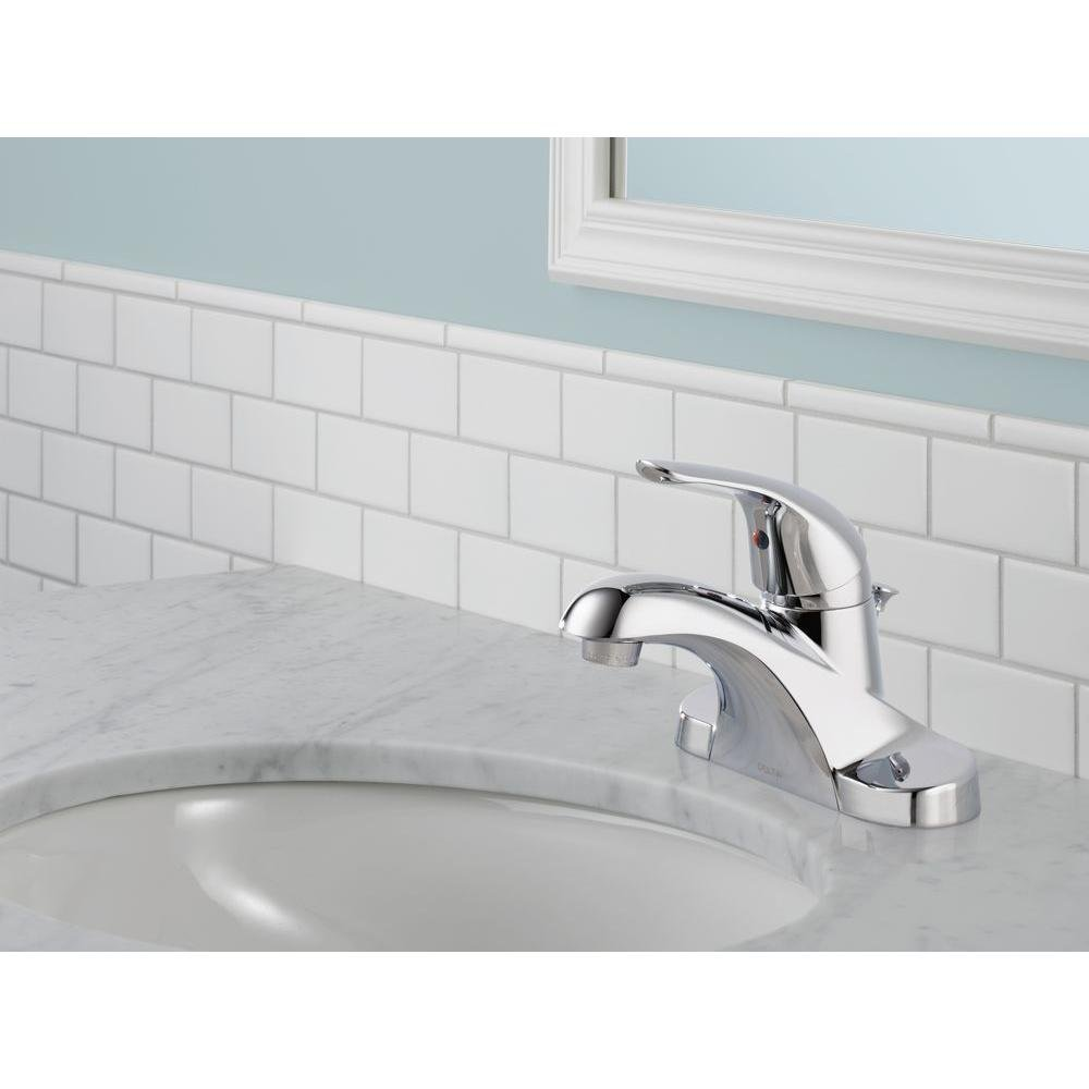 Delta B510LF-PPU-PRO 2-Pack Centerset Bathroom Faucet in Chrome Pro ...