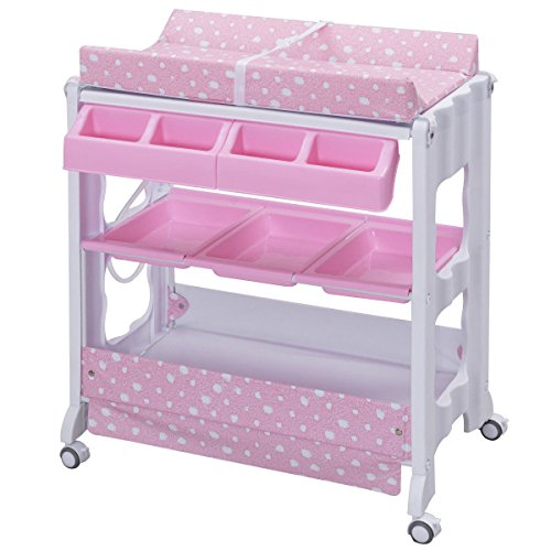 Baby Infant Bath Changing Table Diaper Station Nursery Organizer Storage Tube by Eight24hours