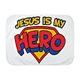 Royal Lion Baby Blanket White Jesus Is My Hero