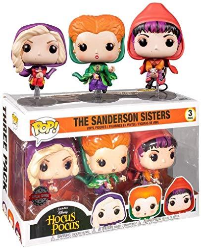 Funko Exclusive Hocus Pocus Pop! Vinilo, Sanderson Sisters, paquete d