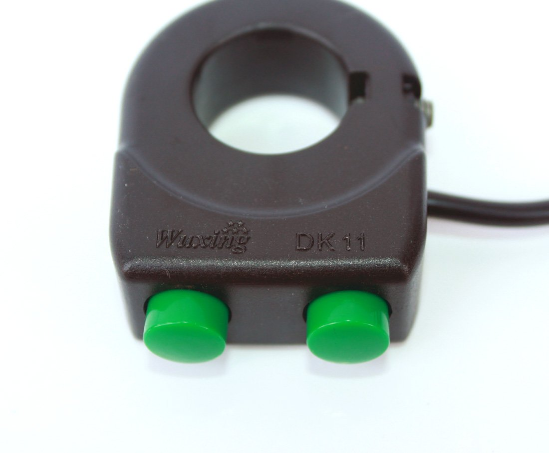 Bicicleta eléctrica Interruptor de cuerno doble Interruptor de botón de Wuxing Multifunción Interruptor del botón de la travesía eléctrica Interruptor del freno eléctrico (double horn switch) L-faster