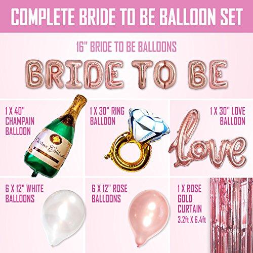 e1f8deac313 Big BRIDE TO BE Balloons Bachelorette Party Decoration Kit - Bridal Shower  Supplies   Accessories -