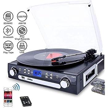 Amazon.com: Victrola Vintage 3-Speed Bluetooth Suitcase ...