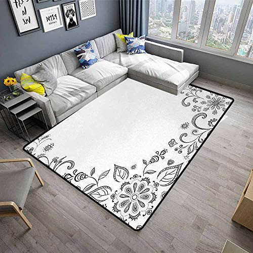 - Black and White,Dining Table Rugs 24