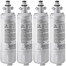 LG Refrigerator Water Filter Replacement by Refresh - Fits for LG Refrigerator Filter LT700P, ADQ36006101, Kenmore 46-9690 - fits LG Water Filter LT700P Refrigerator fridge filter 4 pack