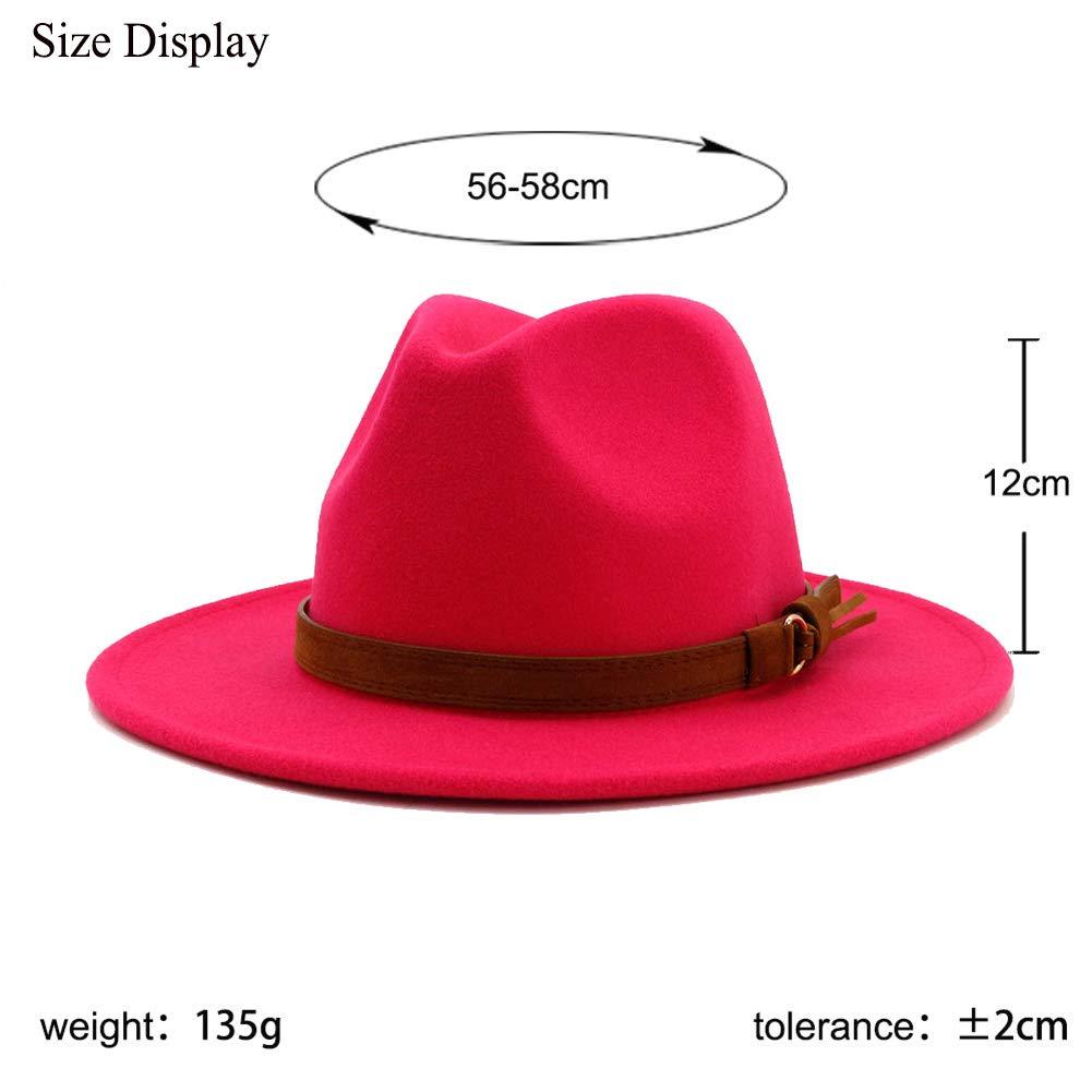 cf9384b40417e Vim Tree Unisex Wide Brim Felt Fedora Hats Men Women Panama Trilby Hat with  Band at Amazon Women s Clothing store
