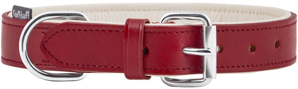 Knuffelwuff Basic Plus Collier en Cuir Doux pour Chien Rouge 46-56 cm product image