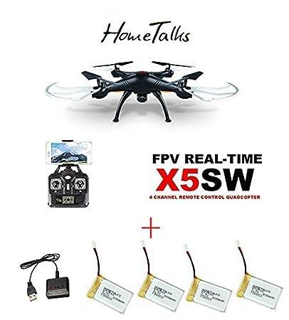 Hometalks® de Syma X5sw Wifi FPV RC Quadcopter con Cámara (Negro ...