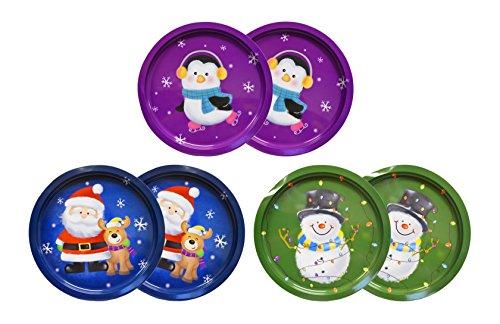 Set Of 6 Holiday Christmas 12