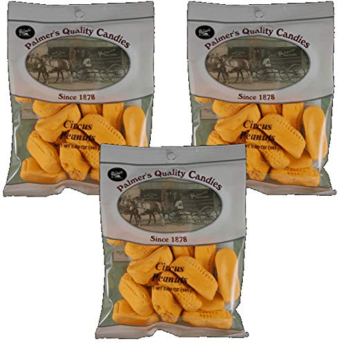 Candy Circus Peanuts Peanut - Palmers Candy Circus Peanuts - (Available in 1, 2 and 3 Packs) - Soft Orange Marshmallow Candies (3-Pack)
