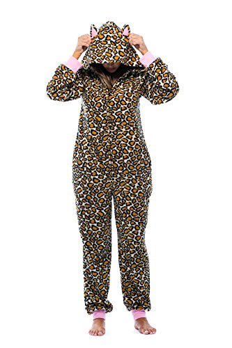 Just Love Adult Onesie with Animal Prints Pajamas 6453-10216-M (Leopard Women Onesie)
