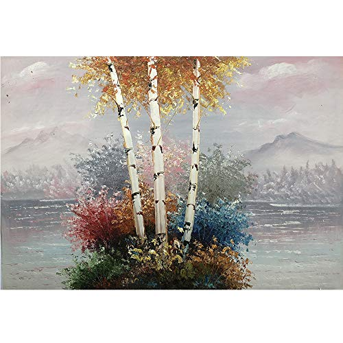 West Coast Hand Painted Oil Painting Canvas Wall Art Contemporary Landscape Abstract Oil Painting Home Decorations 24x35 Inches (1-f)