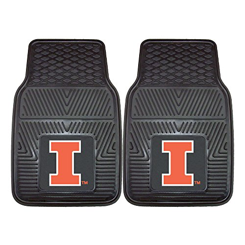 Illinois Car Mats University (Fanmats NCAA University of Illinois Fighting Illini Vinyl Heavy Duty Car Mat)