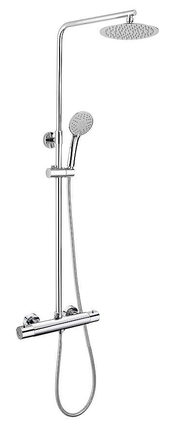 Kibath L433421 Columna de ducha con tubo redondo extensible ...