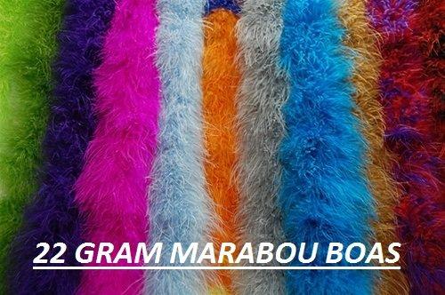 Marabou Feather Boa 2 Yards Long 22 Grams MIDNIGHT BLACK 72