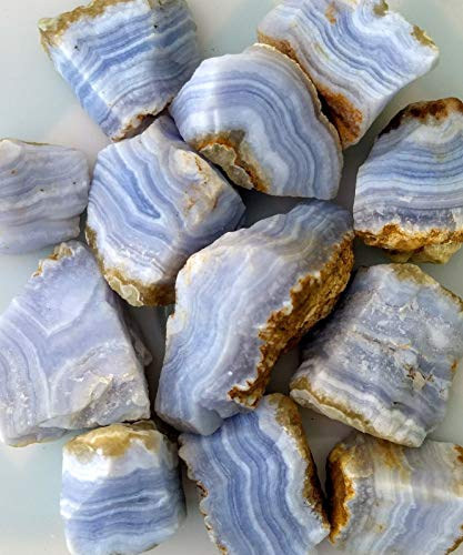(1/4 LB Lot of Rough Blue Lace Agate from Namibia BLA GF)