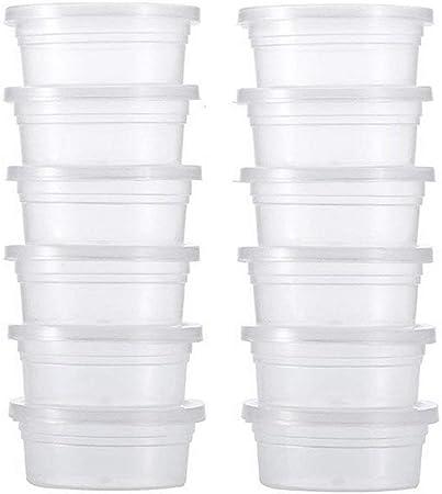 LAAT 10pcs Slime Kit Slime Caja Almacenamiento con Tapa de recipientes Slime Depósito de Moco de Herramientas para DIY Craft Prepare deliciosas Moco: Amazon.es: Hogar