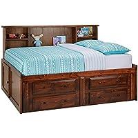 Catalina Chestnut Full Roomsaver Bed