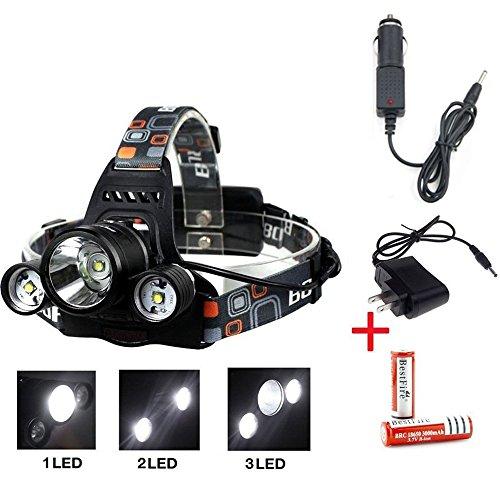 Skycoolwin 5000 Lumen Bright Headlight Light Headlamp Fla...