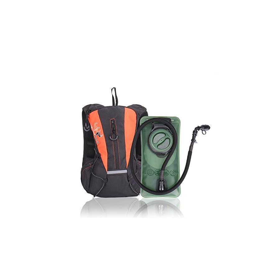 Sports Hydration Pack With Stronger Water Bladder 1.5L Bladder Pack,Multiple Storage Compartment Great for Cycling Hiking Running Biking Skiing