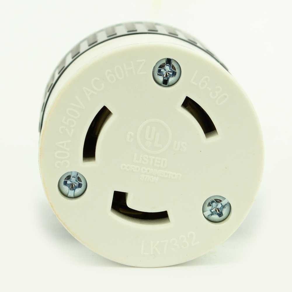 30 Amps 250V NEMA L6-30R 10 Superior Electric YGA017F Twist Lock Electrical Receptacle 3 Wire