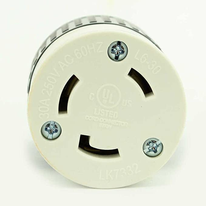 Superior Electric YGA017F Twist Lock Electrical Receptacle 3 Wire, 30 Amps, 250V, NEMA L6-30R - - Amazon.com