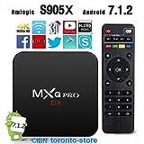 [2018 New Arrive] Latest version V 17.6 MXQ Pro Android TV BOX UHD 4K 64Bit/Amlogic S905X Quad Core ...