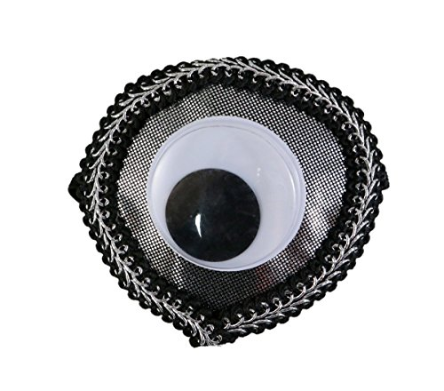 Needzo Jumbo Googly Eye Eye Patch Halloween Accessory, 3 Inch (Black)