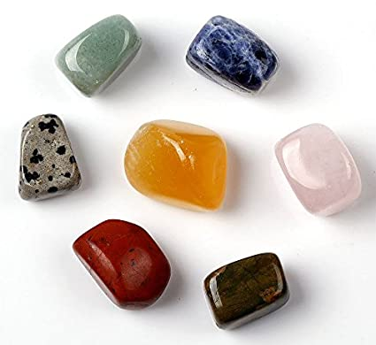 Set de 7 piezas Tumbled y pulido gemas de cristal – 15 mm-20 mm