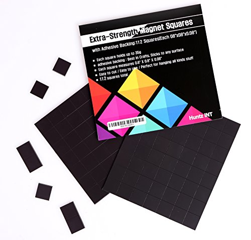 (Flexible Magnet Squares with Adhesive Backing:112 Squares(Each 0.8